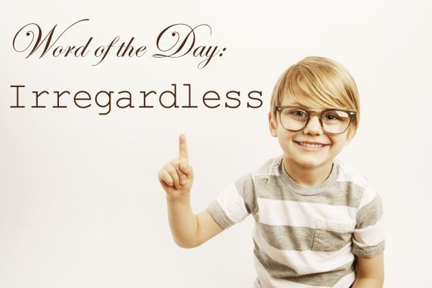 Photo of a Boy Wearing Glasses and a Word of the Day Quote