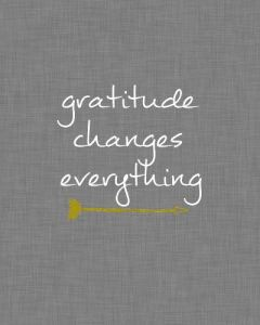 Gratitude Quote with an Arrow