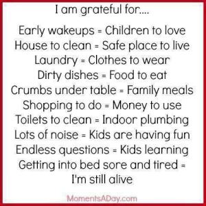 List of Things to Be Grateful For