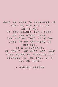 Marina Keegan Quote