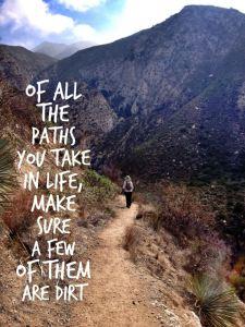 Hiker on a Dirt Trail