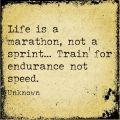 Life Is A Marathon Quote On Parchment Paper