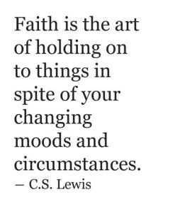 C.S. Lewis Quote About Faith