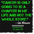 Joe Wasser Quote In Green Lettering On A Black Background