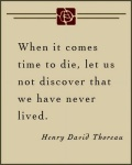 Henry David Thoreau Quote On A Neutral Background