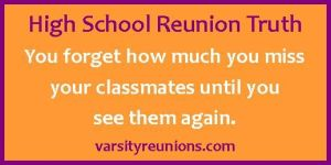 High School Reunion Quote