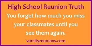 High School Reunion Quote