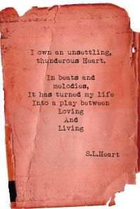 S.L. Heart Quote On Well-Worn Red Paper