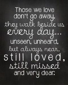Grief Quote In White Lettering On A Black Background
