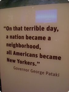 Governor George Pataki Quote About 9/11
