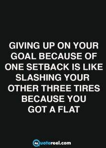Quote About Goals In White Text On A Black Background