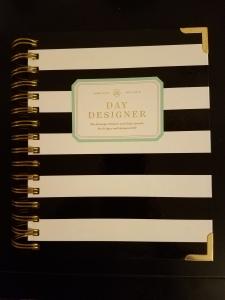 Whitney English Black And White Striped Day Designer
