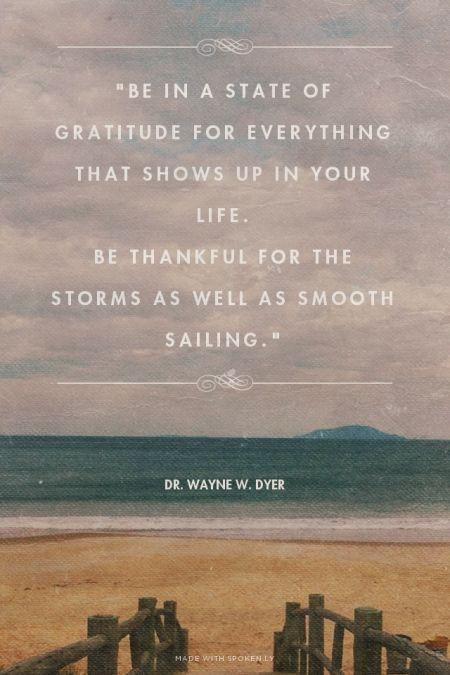 Gratitude-Weathering Storms
